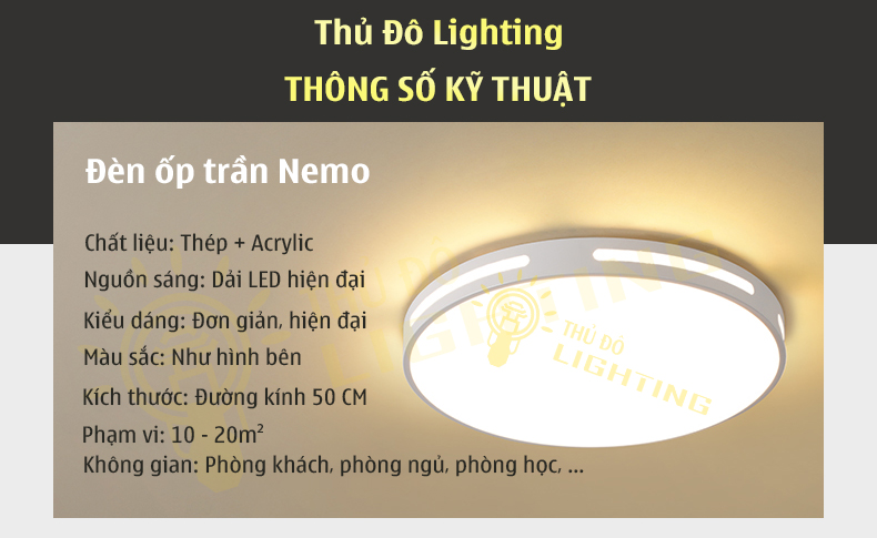 đèn ốp trần hiện đại