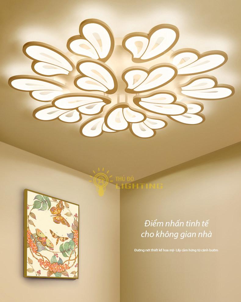 Đèn mâm cánh bướm