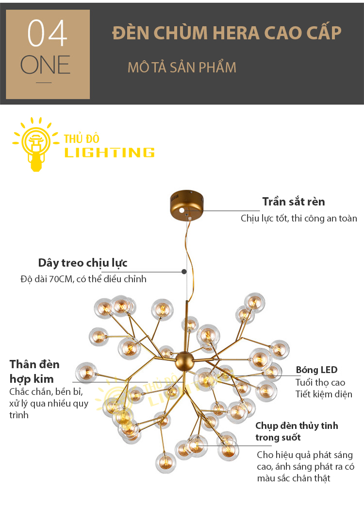 đèn chùm tân cổ điển