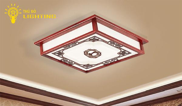 Đèn ốp trần gỗ
