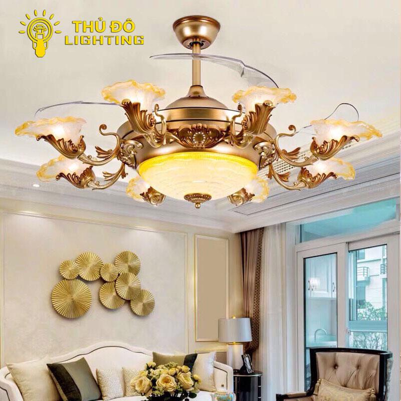 Quạt trần đèn trang trí phòng khách